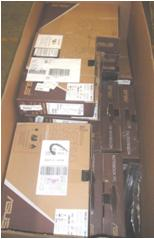Damaged laptops with data wiped. 1 pallet 296 lbs (Qty 41)