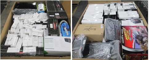 Mixed Electronics & Accessories - 4 Pallets, 1630 lbs ( 261 units )