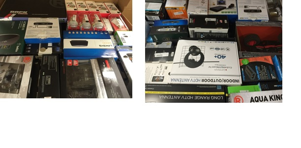 Mixed Electronics & Accessories - 5 Pallets, 1570 lbs ( 649 units )