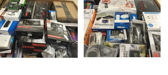 Mixed Electronics & Accessories - 5 Pallets, 1476 lbs ( 659 units )